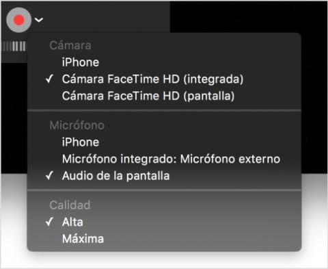 Grabar vídeo con QuickTime