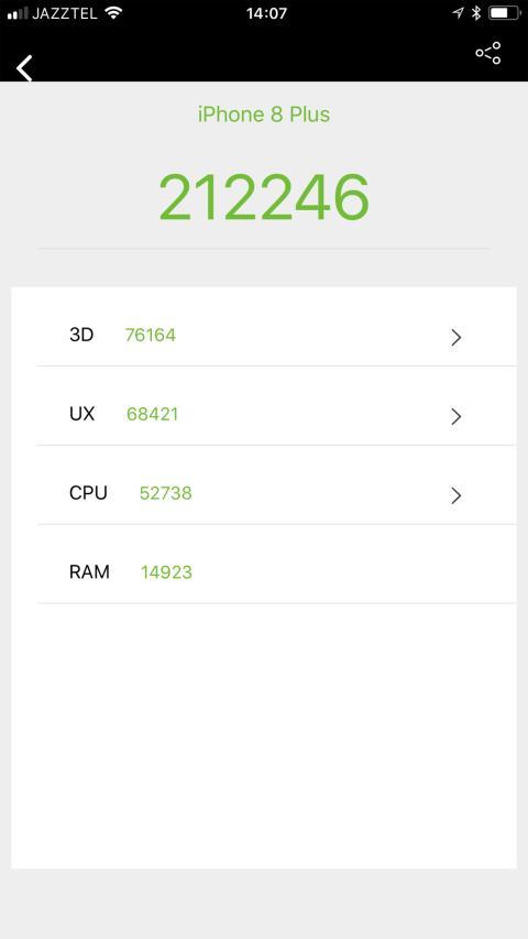 Pruebas de rendimiento del iPhone 8 Plus: AnTuTu, GeekBench 4 y GFXBench GL