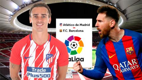 Cómo ver por internet en streaming el Atlético de Madrid - Barcelona.