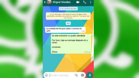 Respuesta automática a los mensajes de WhatsApp con esta aplicación gratis para Android.