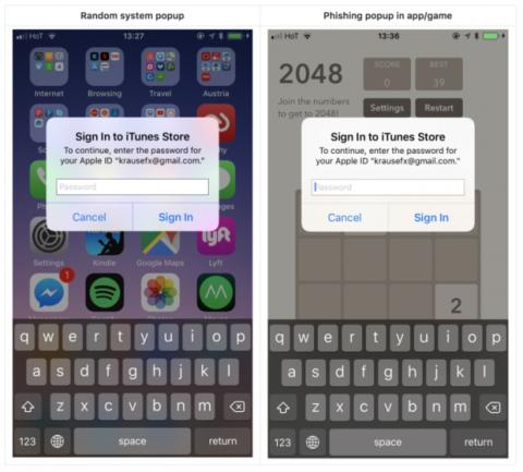 Robar datos contraseña ID Apple