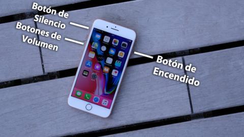 Los botones del iPhone 8 Plus