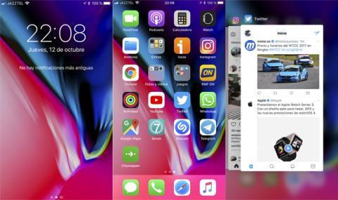 Así es la interfaz del iPhone 8 Plus
