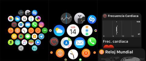 Las aplicaciones lucen un aspecto tal que así en el reloj de Apple