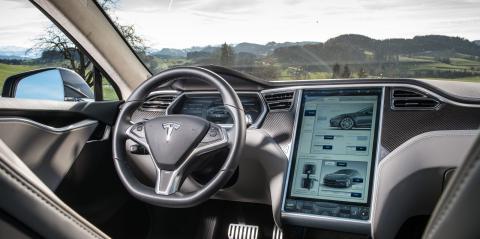 Interior de un Tesla