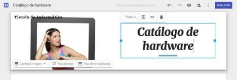 Cómo crear una página web gratis con Google Sites