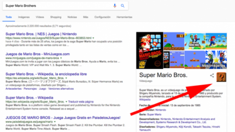 Trucos Google Super Mario Brothers