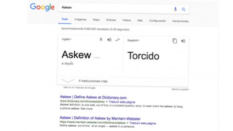 Torcer pantalla Google