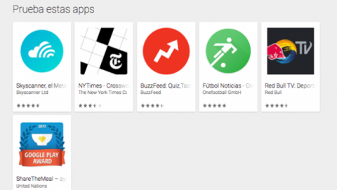 Listado Instant Apps Android