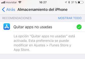 Quita las apps no usadas
