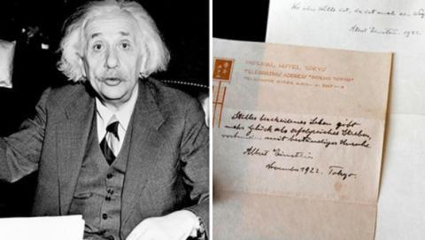 La Carta de la Felicidad subastada por Albert Einstein