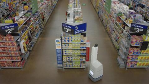Walmart comienza a sustituir reponedores por robots