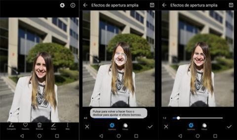 Así se edita el desenfoque de una fotografía en Huawei
