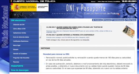 web DNI electronico