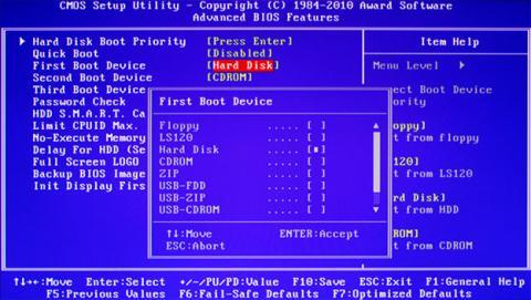 Interfaz BIOS