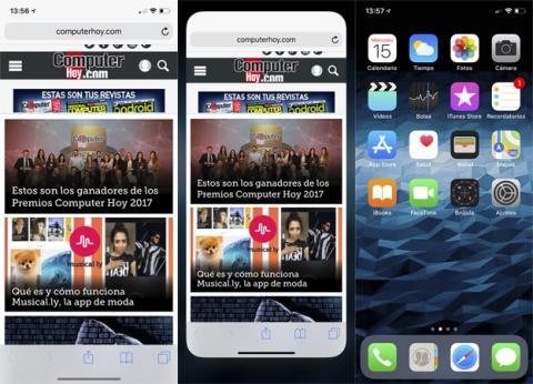 Así se cierra una aplicación con iOS 11 en el iPhone X