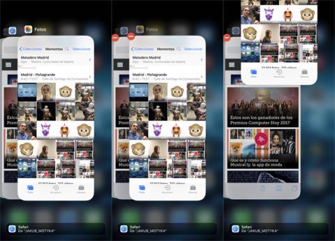 Cerrar una aplicación en el iPhone X