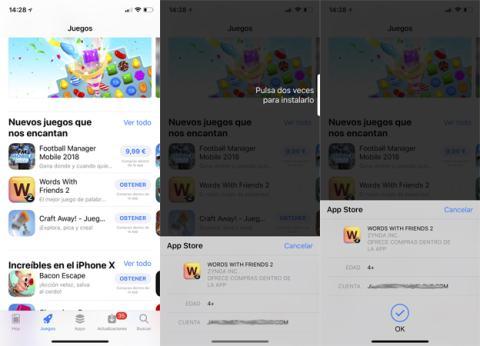 Autorizar una descarga en la App Store