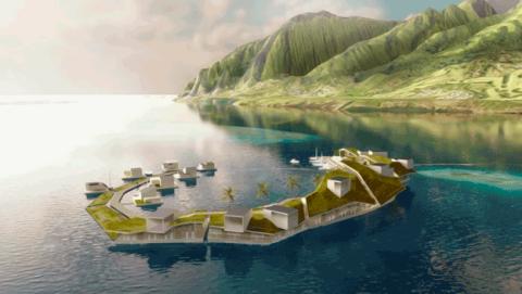 Construcción ciudades flotantes en el mar