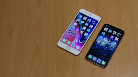 El iPhone X comparado con el iPhone 8 Plus