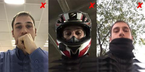 Ejemplos de situaciones en las que Face ID no funciona