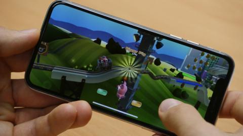 Un juego en el iPhone X