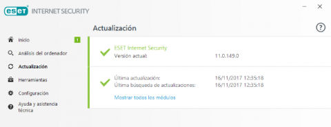 ESET Internet Security 2018 Actualización