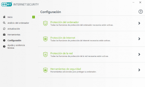 ESET Internet Security 2018 Configuración