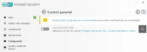 ESET Internet Security 2018 Control parental