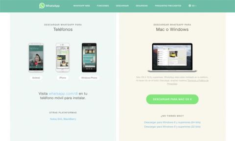 Desde la página web oficial te puedes bajar la última APK de WhatsApp