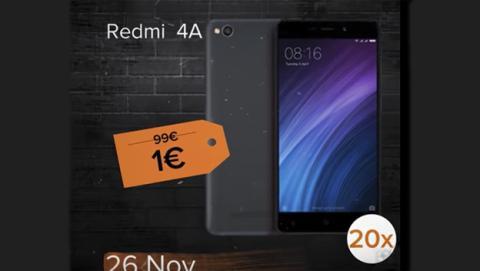 Móviles de Xiaomi en oferta por 1 euro