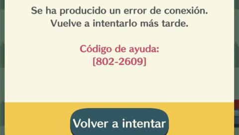 Error al iniciar Animal Crossing Pocket Camp