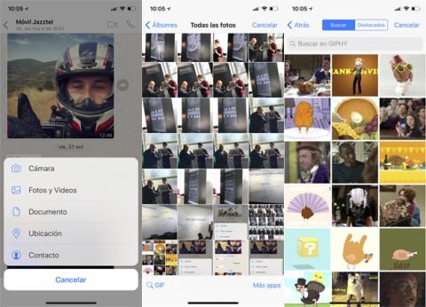 Así se envía un GIF por WhatsApp en iPhone