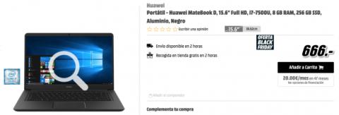 ordenador portátil en oferta Black Friday