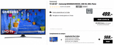 TV 4K descuento Black Friday