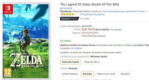 oferta zelda switch