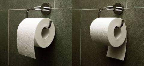 colocar papel baño