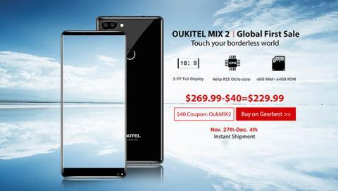 Oukitel Mix 2 en Gearbest con 40 dólares de descuento