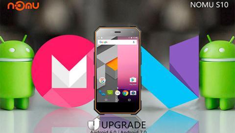 Nomu lanza una actualización a Android 7.0 para el S10
