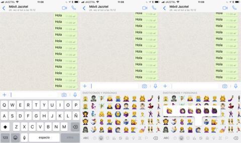 Nuevos emoticonos de WhatsApp en iOS