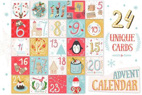 Diseños de calendarios de Adviento