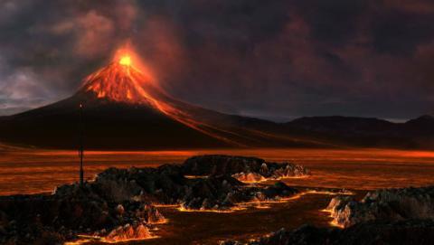 Consecuencias de una supererupción volcánica.