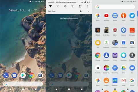Interfaz del Google Pixel 2 XL