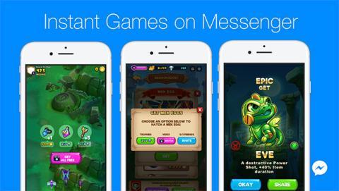 Puedes retransmitir en vivo los juegos de Facebook Messenger
