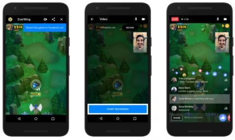 instant games con facebook live