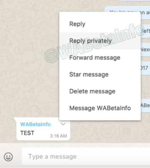 private reply whatsapp web