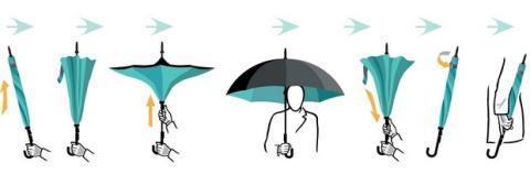 KAZbrella, el paraguas que se abre al revés y funciona mejor