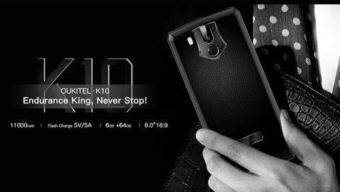 Oukitel K10 garantiza una semana de uso sin cargar la batería