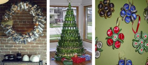 Formas baratas de construir un árbol de Navidad