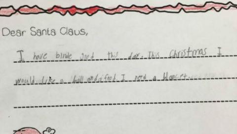 Carta de navidad viral de Crystal Pacheco.